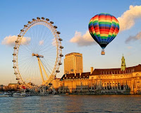 London Eye and rainbow balloon