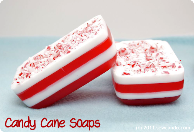 diy candy cane soaps
