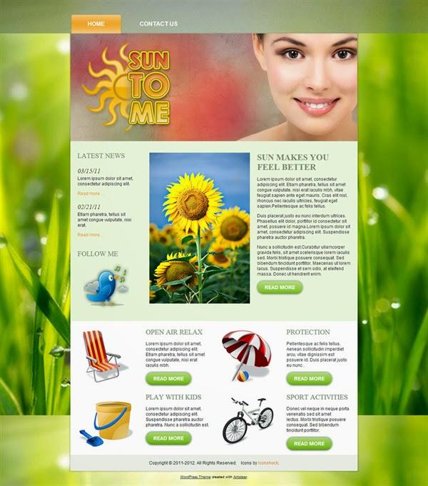 SunToMe - Free Wordpress Theme