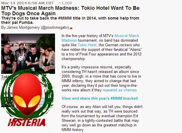 [14.03.14] MMM 2014 - Tokio Hotel querem ser vitoriosos mais uma vez Mtvf
