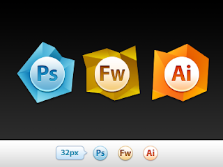 Adobe Icons Photoshop Fireworks illustrator