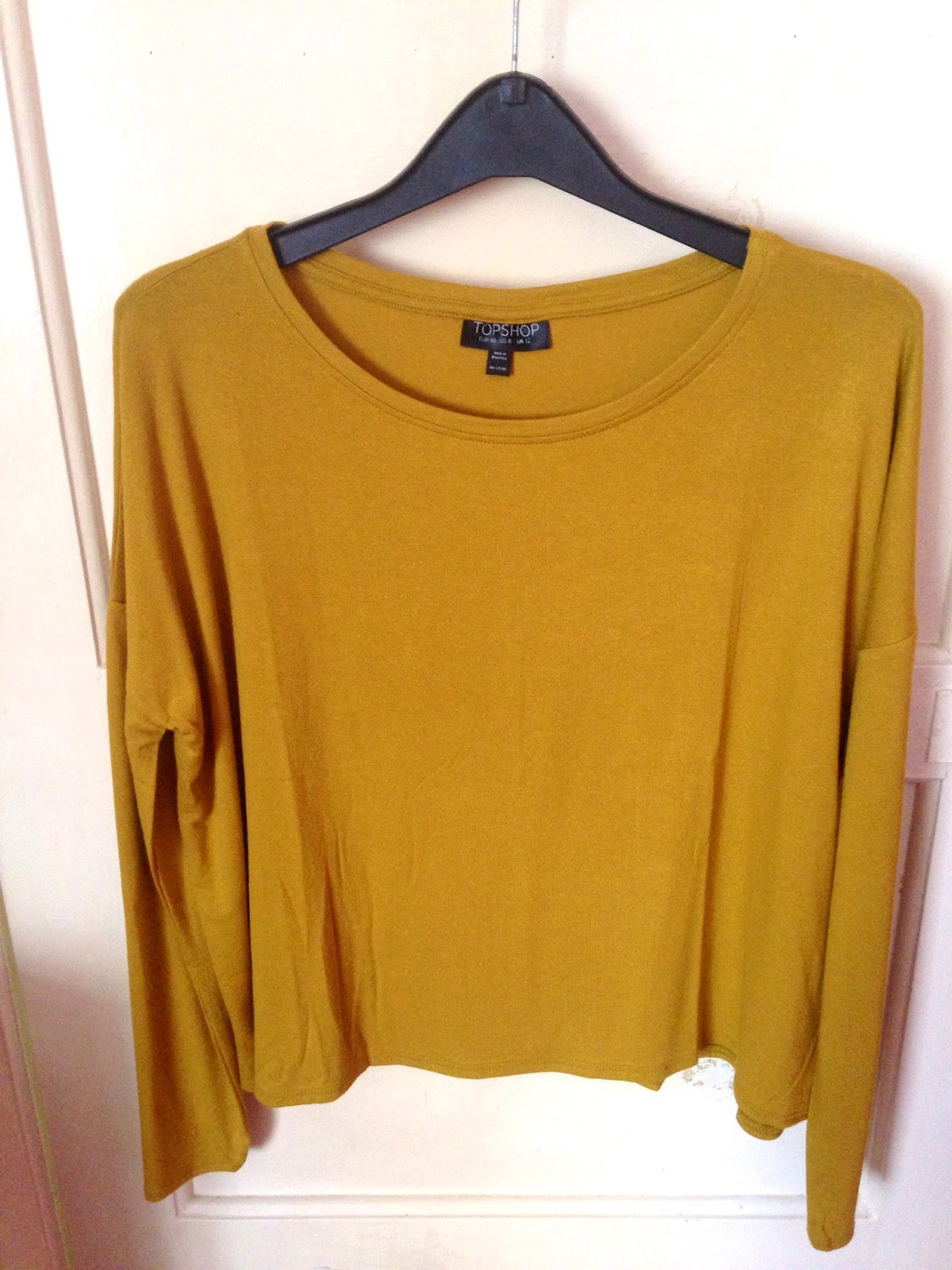 Topshop Long Sleeve Crepe Top