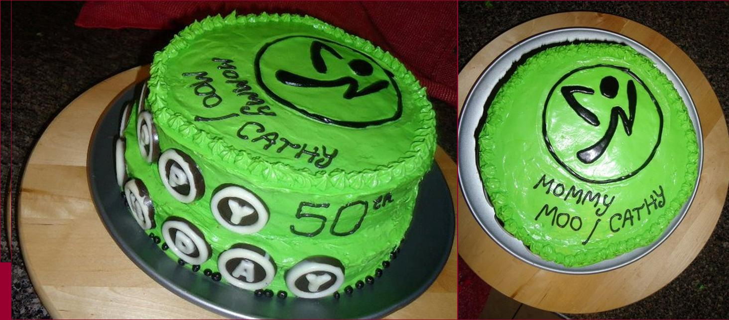 State Of Mine Design Zumba Birthday Cake