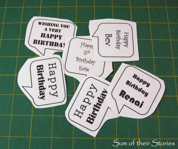 Simple Speech Bubble Cards