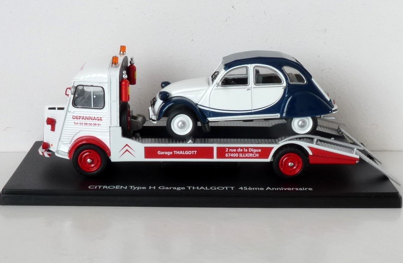 Garage de poche jip citro n type h d panneuse - Garage miniature citroen ...