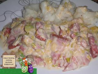 Mistura de Bacon com Alho-Francês