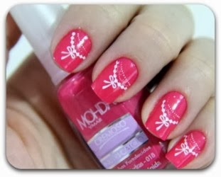 Modelos unhas decoradas com lacinhos
