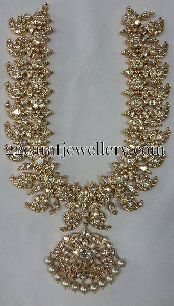 Sparkling Diamond Mango Necklace