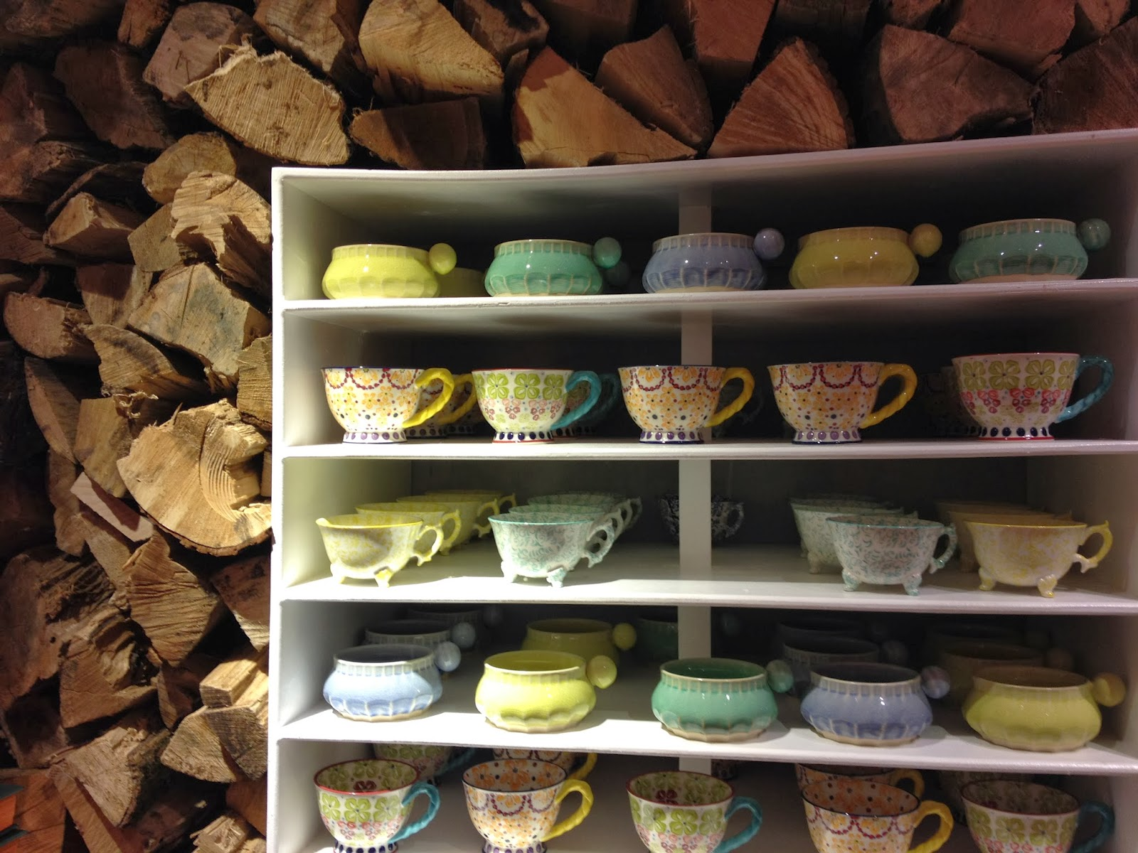firewood & pretty dishes