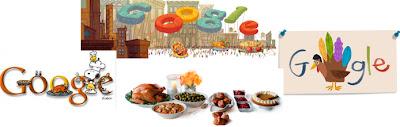 Doodles de Google dedicados al Día de Acción de Gracias