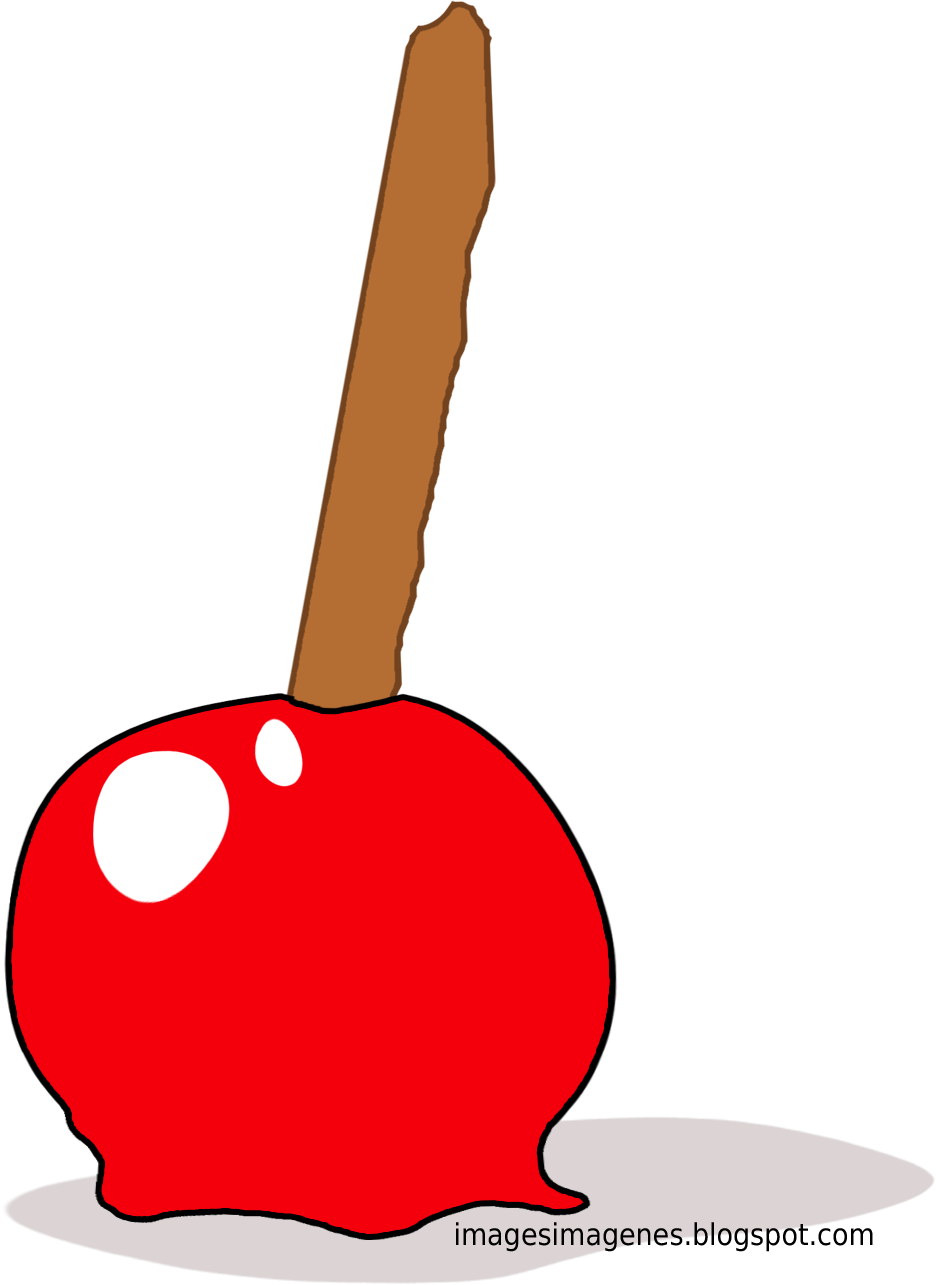 Imagen de manzana de caramelo.