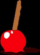 MANZANA DE CARAMELO EN PNG CON FONDO TRANSPARENTE. manzana de caramelo