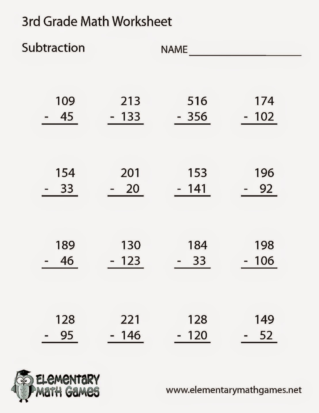 3rd grade math division printable worksheets