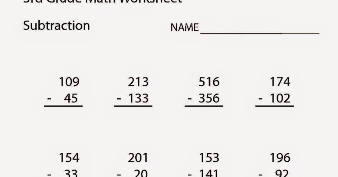 3Rd Grade Math Worksheets – 7 Grade Math Worksheets