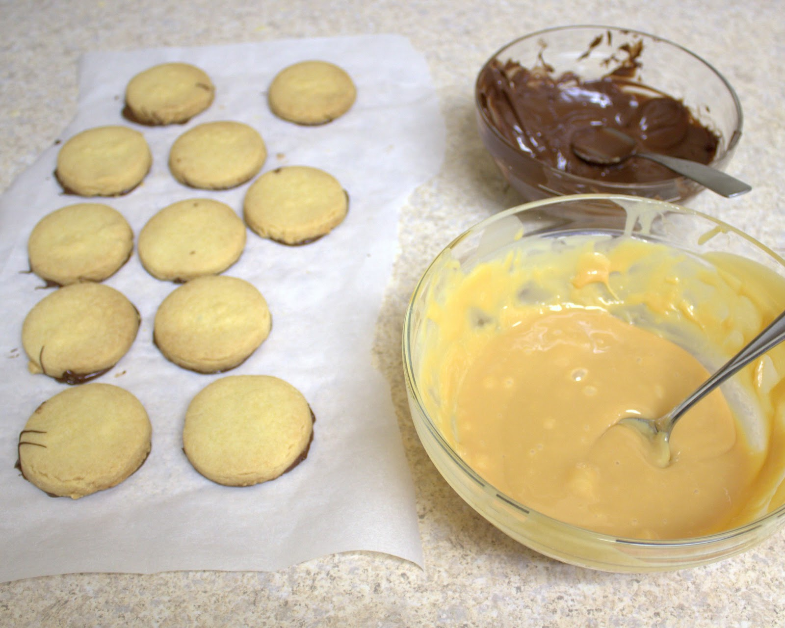dulce de leche chocolate coconut shortbread cookies