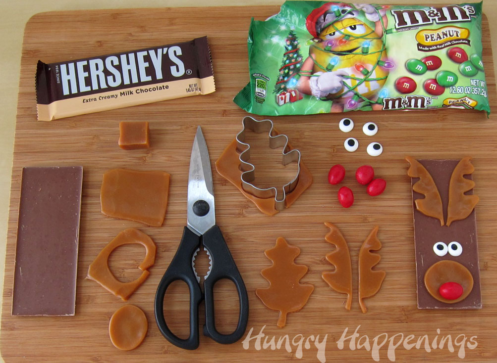 Edible Christmas Craft – Rudolph the Red Nose Reindeer Candy Bars