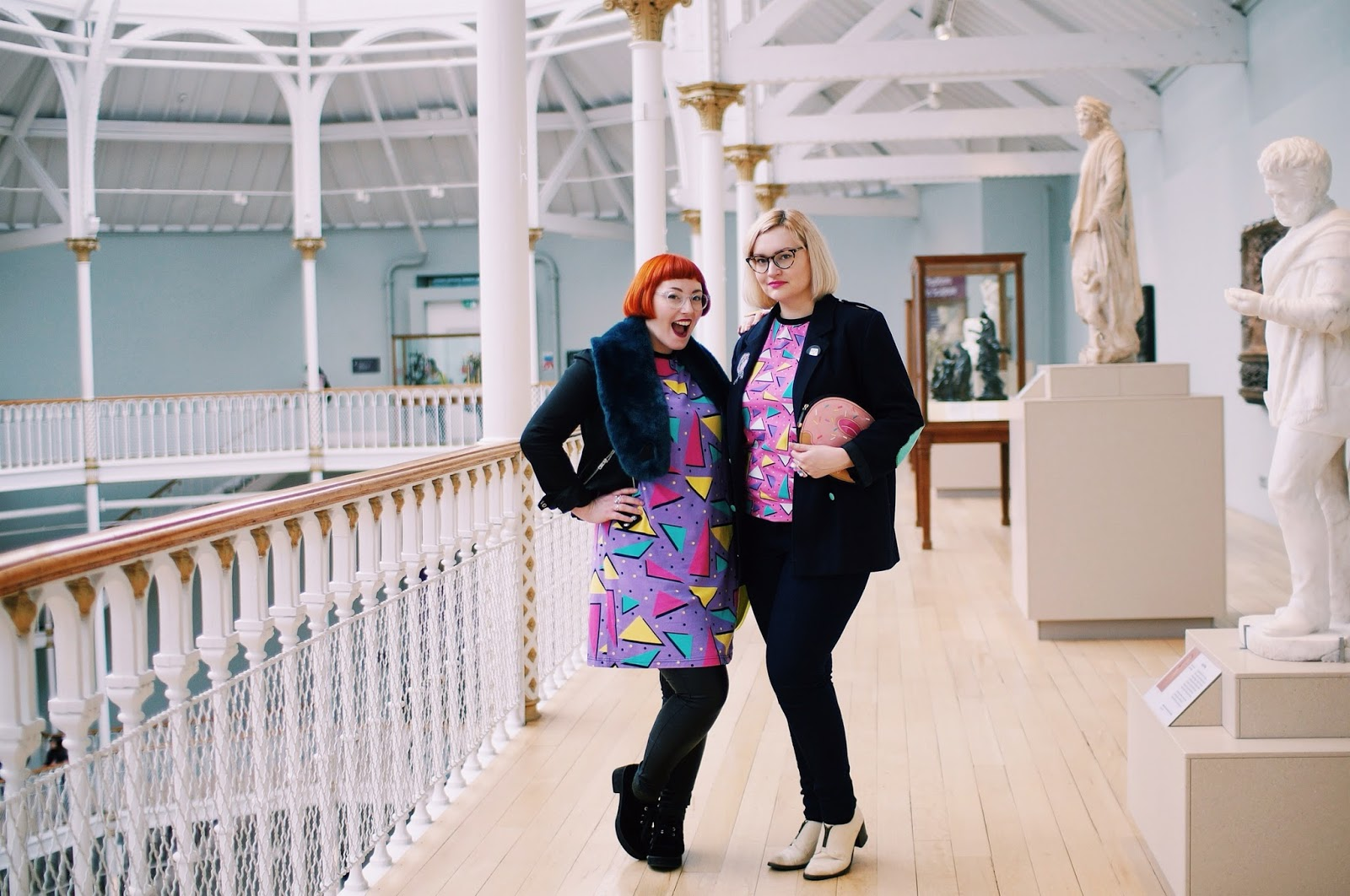 Helen and Kimberley, Wardrobe Conversations, Boya Shen, moveit video project, YouTube, National Museum of Scotland, photoshoot location, Scottish bloggers,