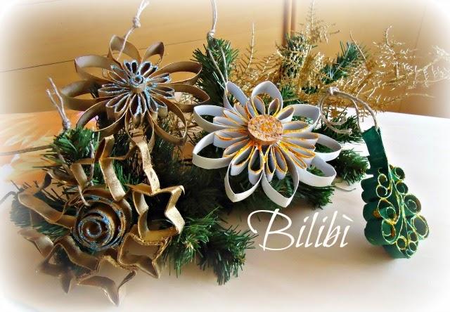 Bilib decorazioni natalizie con rotoli della carta - Decorazioni natalizie con tovaglioli di carta ...