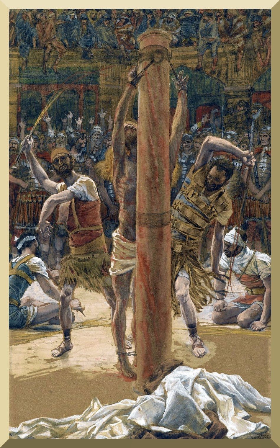 """The Scourging on the Back"" -- by James Tissot"
