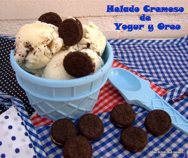 Helado Cremoso de Yogur y Oreo