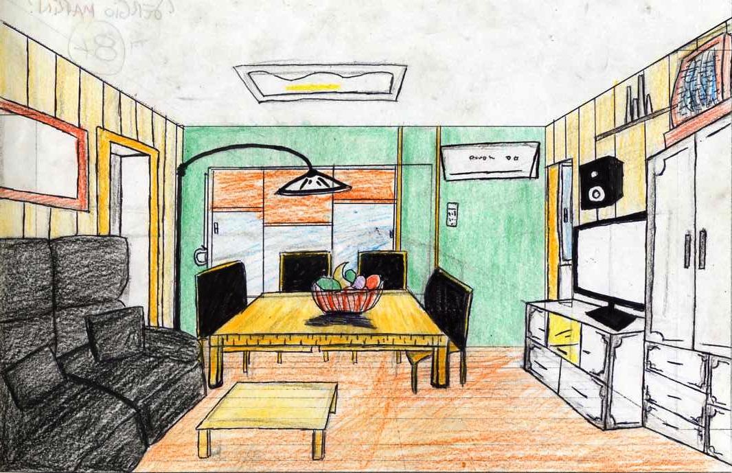El blog de pl stica de la anunciaci n habitaciones en perspectiva c nica 4 b pdc 2012 2013 - Habitacion en perspectiva conica ...