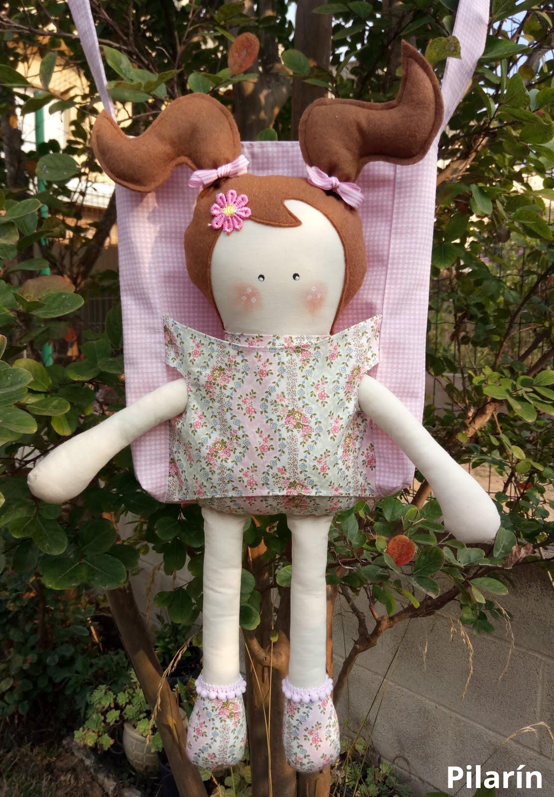 Bolso con muñeca + Tutorial