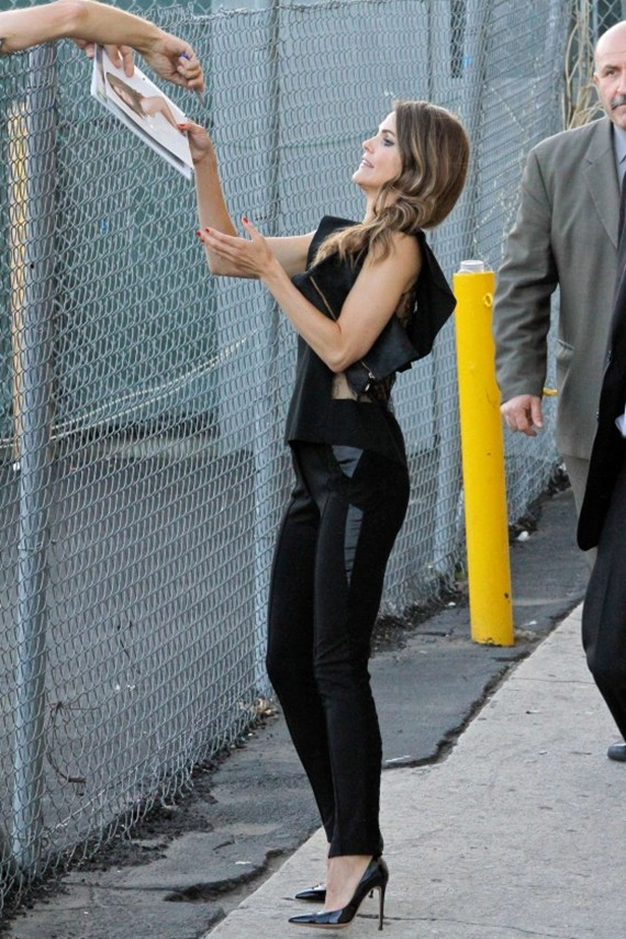 Keri Russell at Jimmy Kimmel Live candids in Hollywood