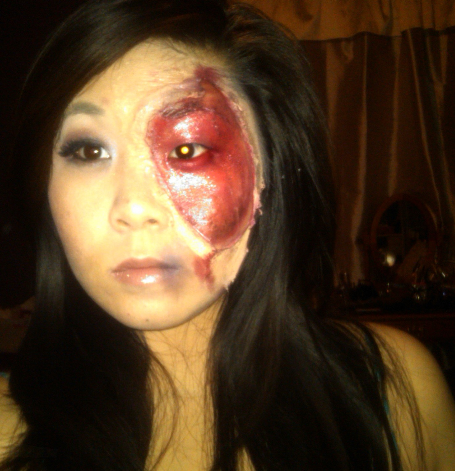 Pretty Girl Zombie Makeup