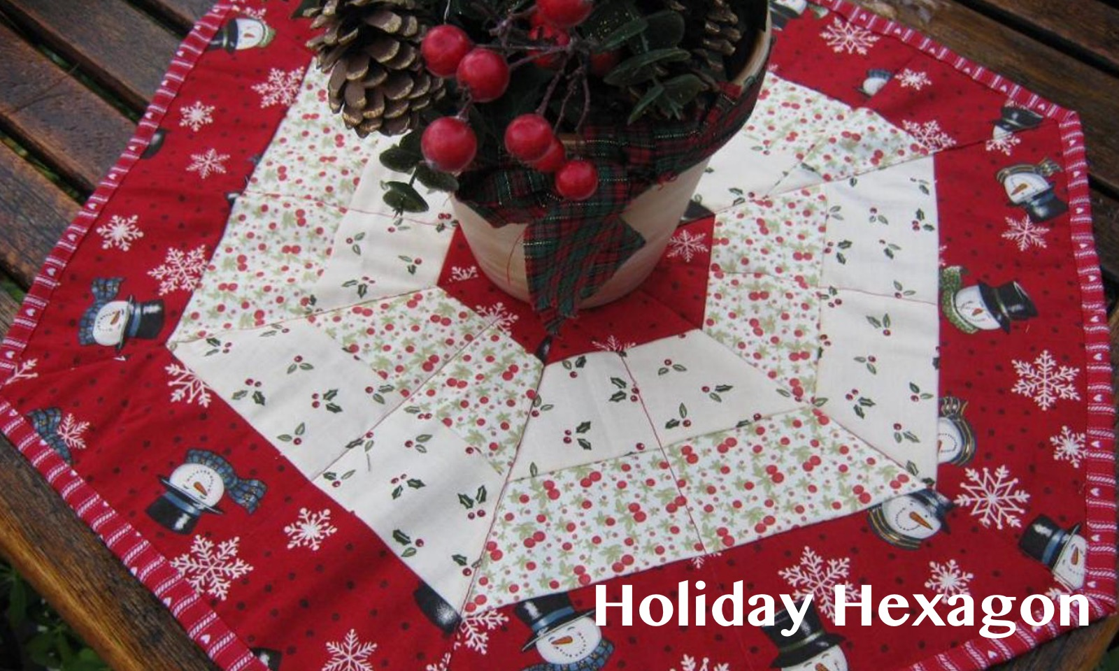 Holiday Hexagon Pattern