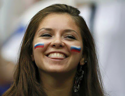 Russia girls fans Euro 2012