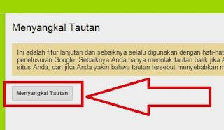 Cara Menghapus Backlink Lewat Google Webmaster