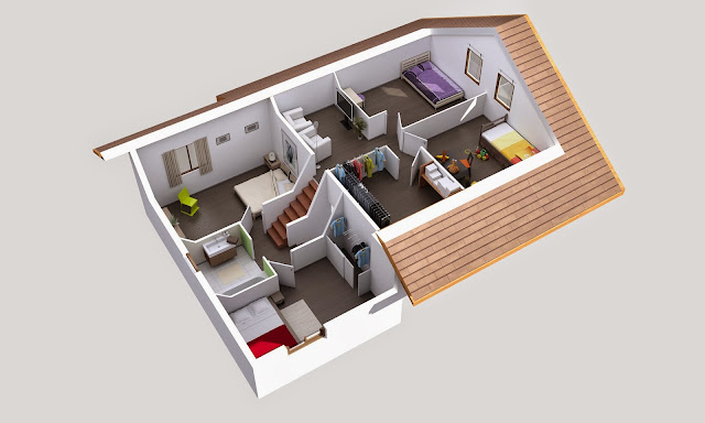 Exemple D'Aménagement D'Une Maison En Demi-Niveaux. | Maisons Stenzô
