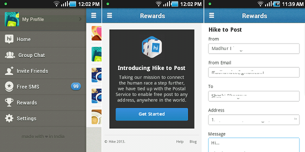 Hike2Post Steps on Android