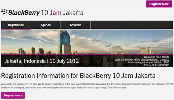 BlackBerry 10 Jam World Tour Registration Now Open to Jakarta