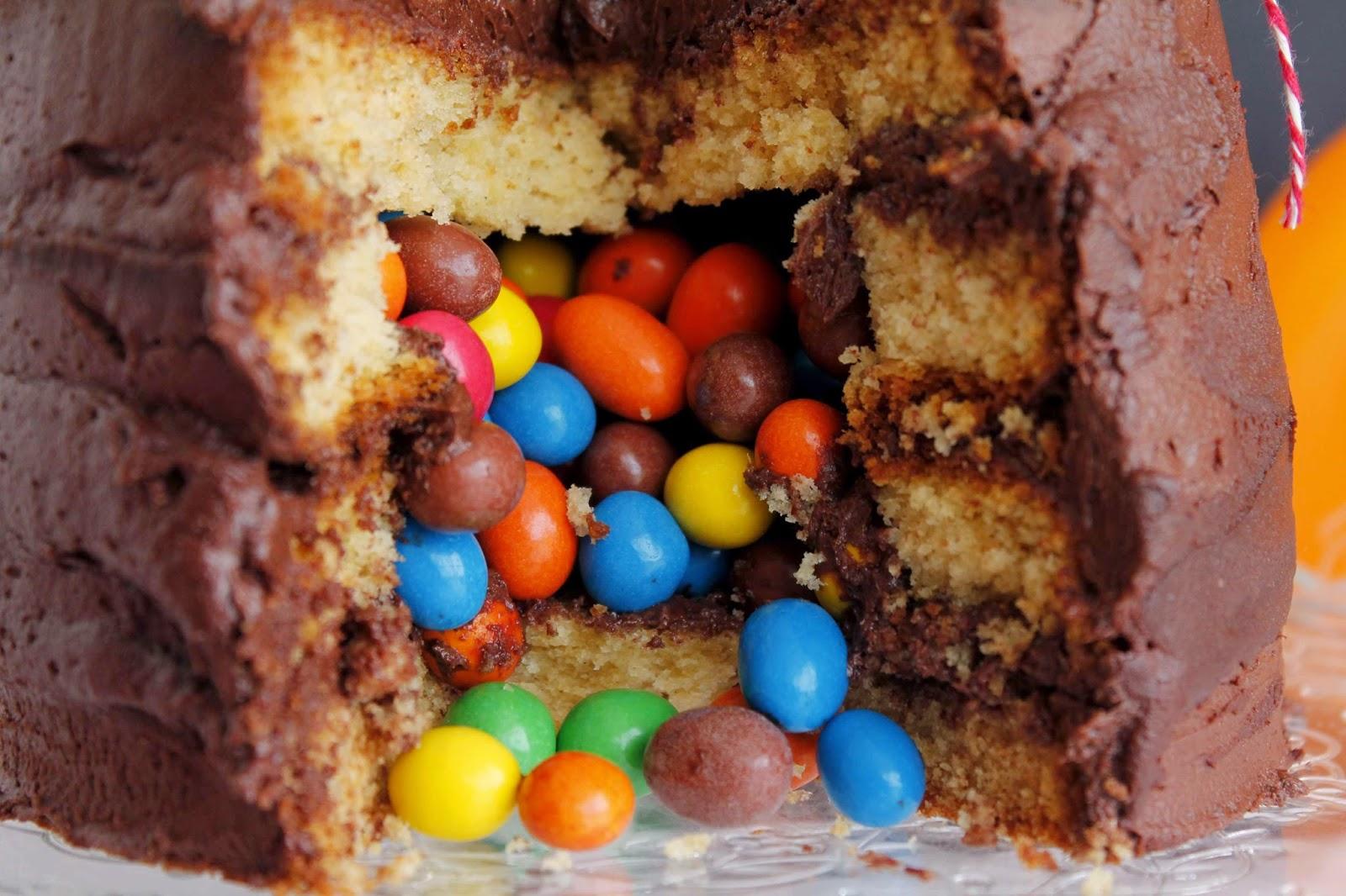 Receta Tarta sorpresa de vainilla y chocolate