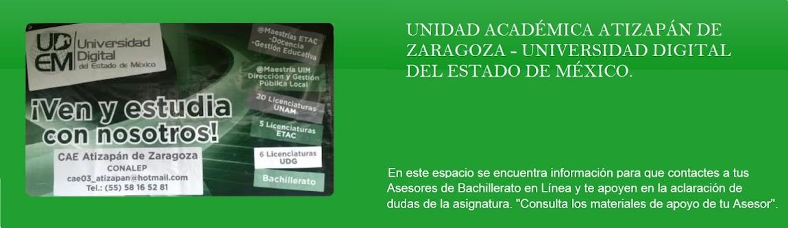 """UNIDAD ACADÉMICA 03 """"ATIZAPÁN DE ZARAGOZA"""""""