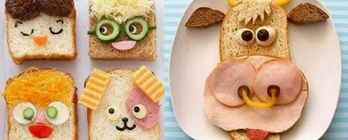 30 creative sandwich decorations to admire your little kids