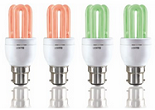 Amazon : 8-Watt Red and Green LightO 2U T3 Glass CFL (Pack of 4) at Rs.520