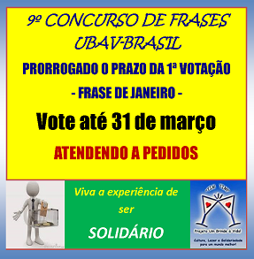 AVISO DO 9º CONCURSO UBAV-BR