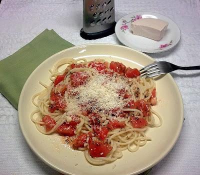Espaguetis con Tomatitos Cherry