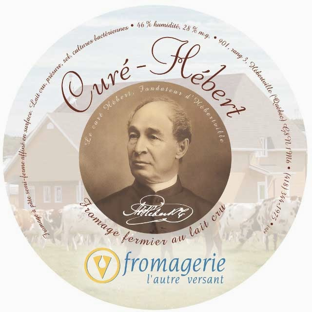 Curé-Hébert cheese label