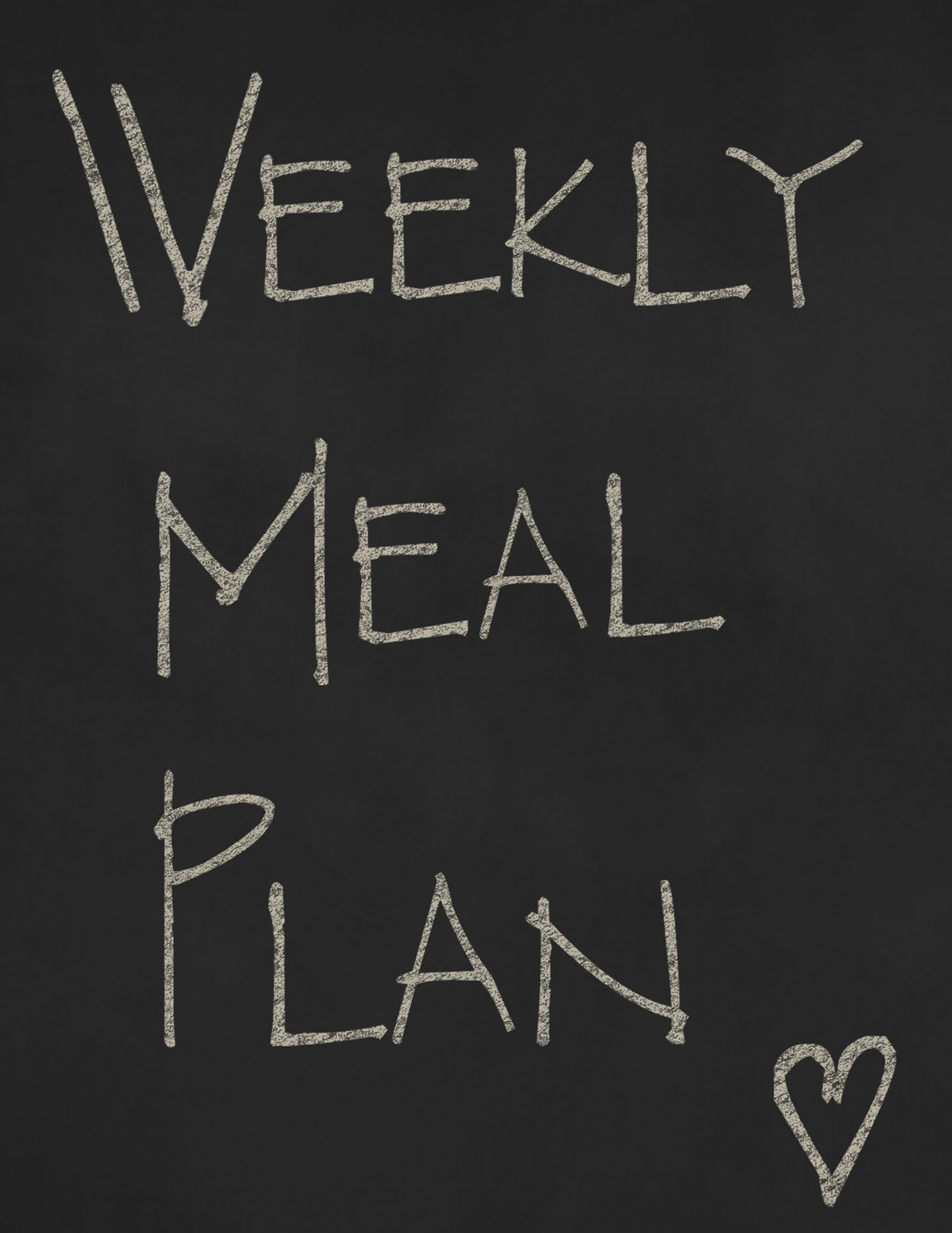 Gluten Free Weekly Meal Plan-Week of June 9
