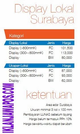 Jawa Pos Iklan Paket Display Lokal Surabaya 2014