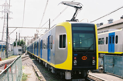 One of the new trains