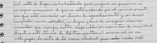 Fotografía de letra cursiva.