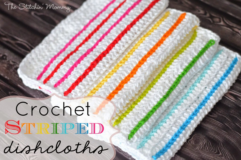free crochet pattern striped dishcloths