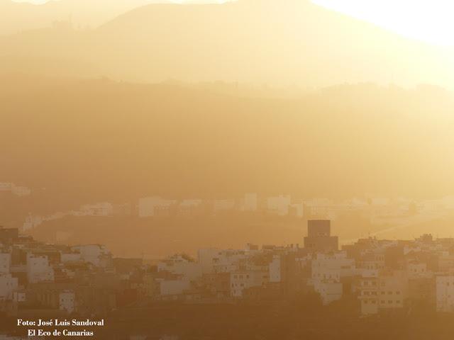 Fotos calima Gran Canaria martes 26 enero