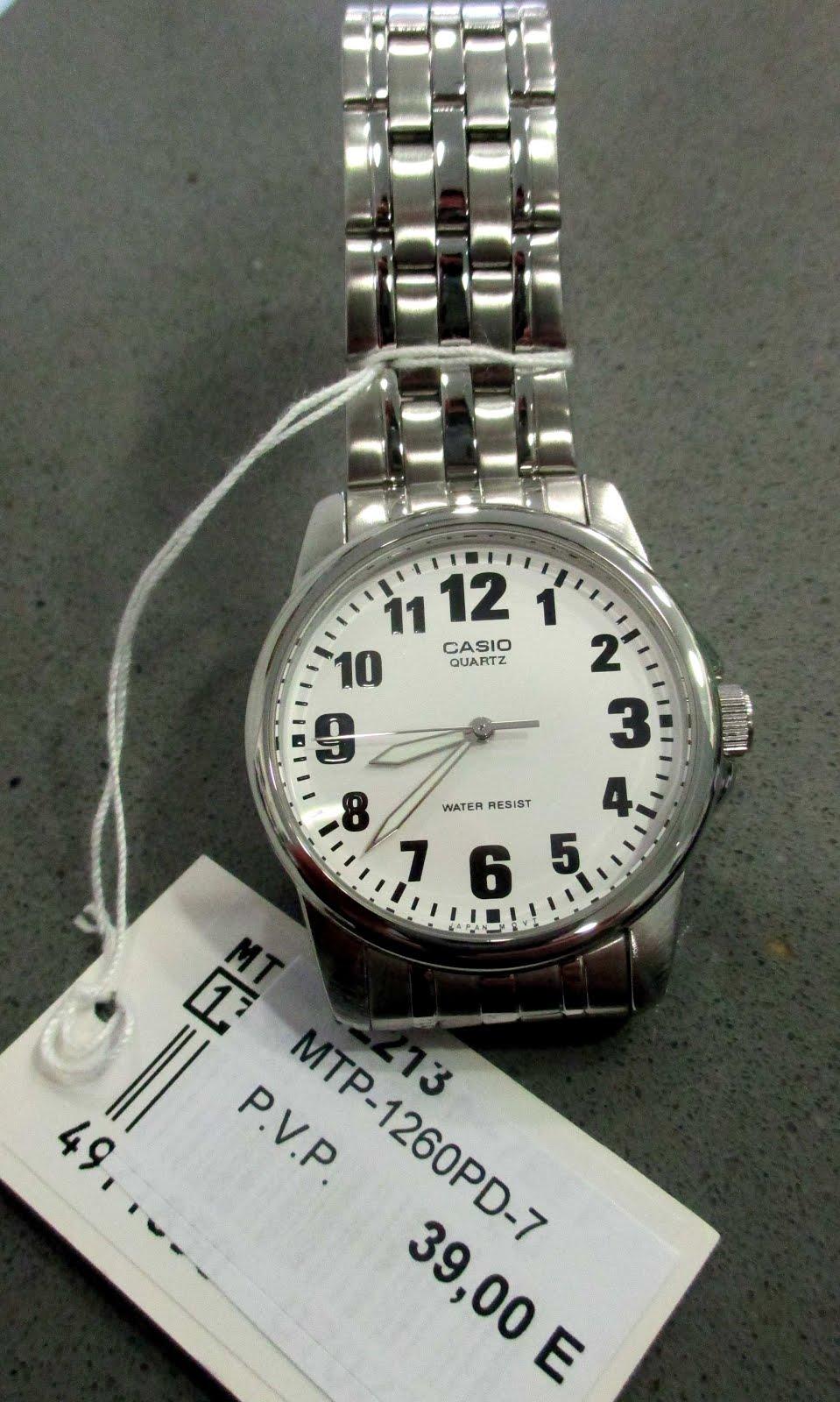 Reloj Casio, con números grandes