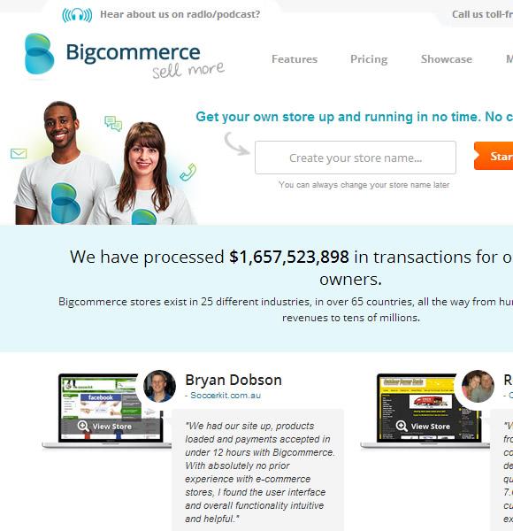 Ecommerce Website Name : Big Commerce