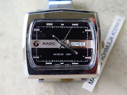 RADO NCC 101 BLACK DIAL TV SHAPE - AUTOMATIC - NOS